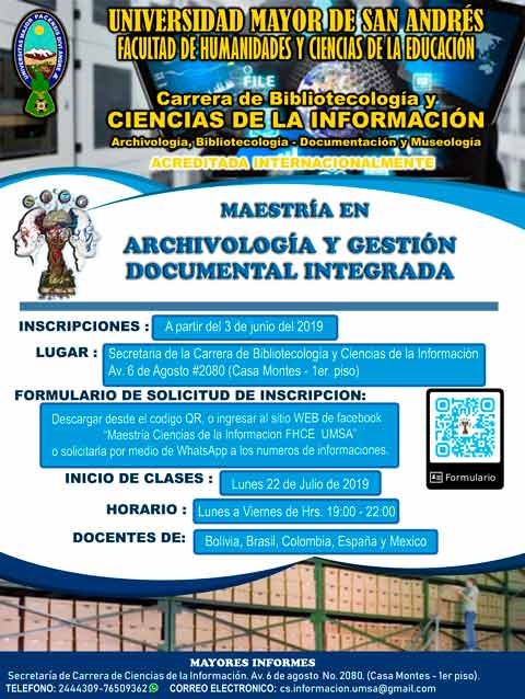 MAESTRIA - ARCHIVOLOGIA Y GESTION DOCUMENTAL INTEGRADA